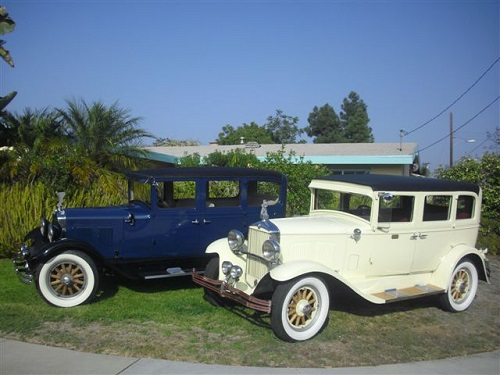 Two 1929 Durants 4 Door
